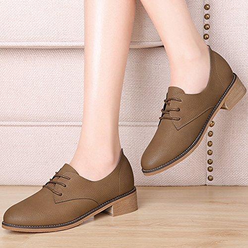XTIAN - Pantofole Donna Dunkelbraun