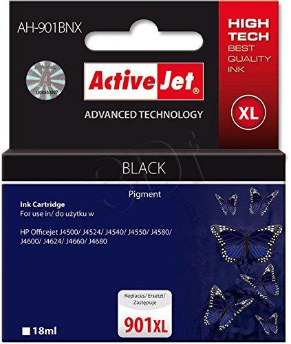 ActiveJet EXPACJAHP0121 Tinte AH-901BRX Refill für HP No.901XL, schwarz