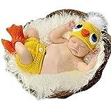 DAYAN bebé recién nacido lindo del pato Gorro de lana traje de apoyo de la fotografía fijaron el equipo