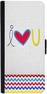 Snoogg I Love You White Designer Protective Back Case Cover For Asus Zenfone ...