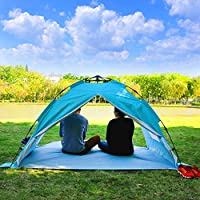 ALPIKA Beach Tent 3-4 Person Camping Tent Sun Shelter UV Protection & Waterproof Automatic Tent for Outdoor