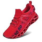JSLEAP Laufende Tennisschuhe der athletischen gehenden Klingen der Männer Mode-Turnschuhe Größe 45 Rot