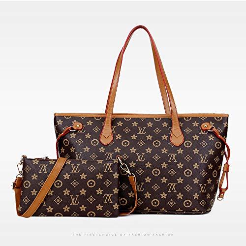 LFGCL Taschen womenWomen's alte Blume einzelne Schulter Diagonal Tasche Handtasche Dampfer Mutter, braun