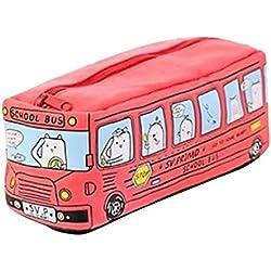 estuches escolares casual Switchali ninos moda Papelería Bolígrafo Estuche Escolar Artículo de papelería Ideal para Estudiantes de chicas ninas Bolsa de maquillaje de ninos (Rojo)