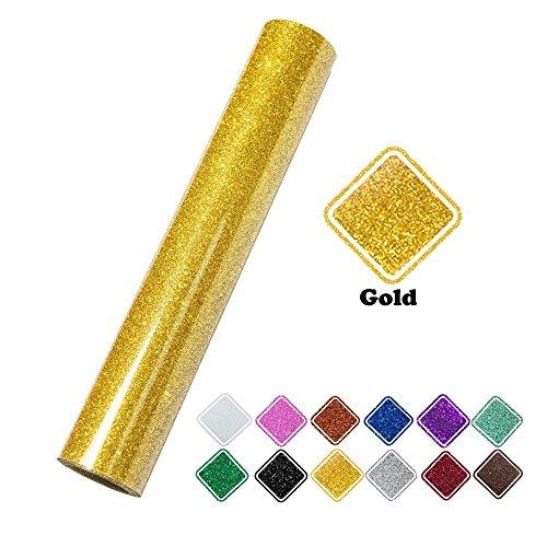 KAIMENG Gold Glitter Iron en transferencia de calor Rollo de vinilo para  camisetas 5924c2dcde1f6