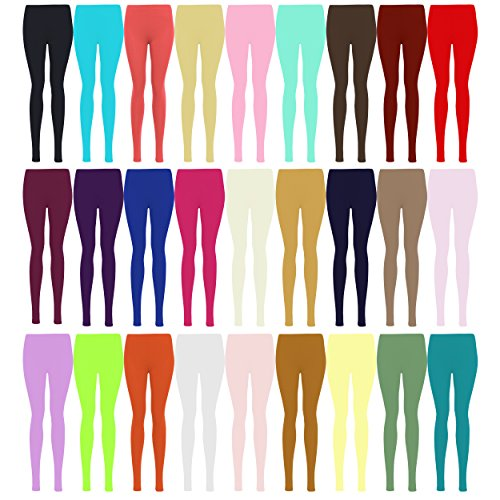 LessThanTenQuid Missloved ™ Plus Size Plain Stretchy Viscose Lycra Leggings UK Sizes 12-26 * 25+ Colours *