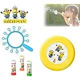 Set infantil juguetes (frisbee + multi trompeta de pompas) con varios motivos - Minions