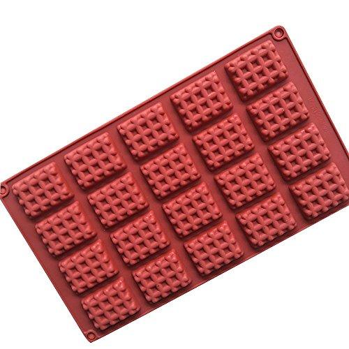 Asien Kuchen-Form von Waffeln Bakeware Formen für Tiere, Backen, Mini-Kuchen, Kuchen, Schokolade, Eis 11.4x6.7x0.4 Inch - Waffel Silikon-form