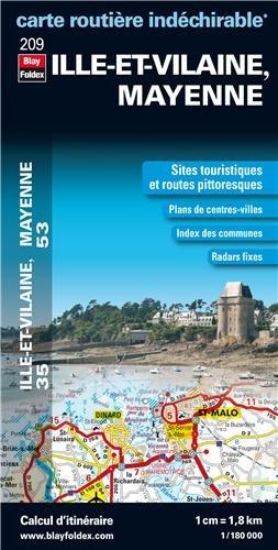 Ille et Vilaine, Mayenne : 1/180 000