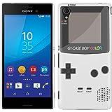 Etui de créateur pour Sony Xperia M4 Aqua - Etui / Coque / Housse de protection blanc en Plastique Rigide (arrière rigide) avec motif cool gameboy couleur