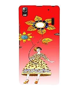 PrintVisa Cute Flower Girl Butterfly Design 3D Hard Polycarbonate Designer Back Case Cover for Lenovo K3 Note