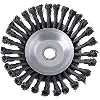Appearancees Rotary Twist Knot Steel Wire Wheel Brush Disc 25.4x200mm Trimmer Supplies
