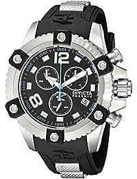 Invicta Reserve Herren-Armbanduhr 50mm Armband Kunststoff Schwarz Gehäuse Edelstahl Schweizer Quarz 11169