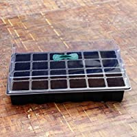 Gardening Planting Tools 24 Cells Hole Plastic Greenhouse Seedling Starter Tray With Air Vent Growing Box Case Seeding Germination Tray Garden Tools