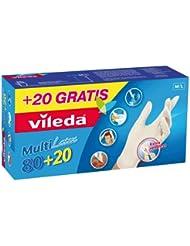 Vileda 02963 Multilatex 80 + 20 Gants jetables Taille M/L