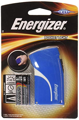 Energizer Lampe de Poche LED Bleu , +AAA x 2 Piles