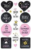 Avery Zweckform 56041 (Deko Sticker, Geburtstag, 17 Aufkleber)
