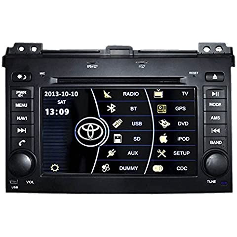 Generic 7 inch in dash Capacitiva Touch Screen auto DVD di navigazione GPS per Toyota Prado 120 serie 2002 2003 2004 2005 2006 2007 2008 2009 Auto Radio sistema multimediale? Video Audio Stereo Bluetooth iPod RDS rubrica TV MFD controllo del volante USB MP5 PIP CDC