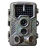 Flinelife Low-Glow-Infrarot-Schwarzblitz Wildkamera 12MP 1080P 25m Erfassungsbereich 20m Nachtsicht wasserdicht IP56 (Jagdkamera)