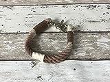 Tau-Halsband Größe 27-29cm Braun Ombre