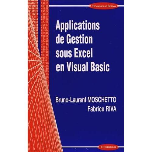 Applications de gestion sous Excel en Visual Basic