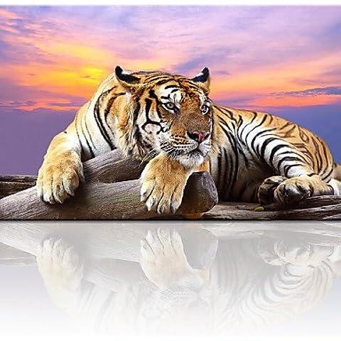 Lienzo animal tigre Arte Giclee Print Sunset Inicio Impresión foto lienzo lienzo de arte de pared de mercancías