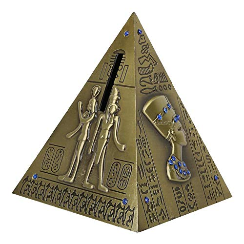 Hztyyier Pirámide egipcia Metal Pirámide Bronce