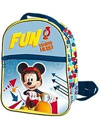 Preisvergleich für Mickey Mouse Rucksack Reißverschluss Front 24x 21x 8cms. Mickey, Farbe 0(ast0945)