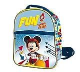Mickey Mouse Rucksack Reißverschluss Front 24x 21x 8cms. Mickey, Farbe 0(ast0945)