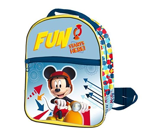 Mickey Mouse Rucksack Reißverschluss Front 24x 21x 8cms. Mickey, Farbe 0(ast0945) Preisvergleich