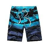 ELECTRI Shorts Pour Homme,D'été maillots de bain Beach Loisirs de Plein air pour homme avec Fire d'impression à séchage rapide de coffre Noir Short Homme Tres Court Bermuda