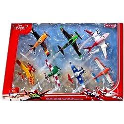 "Disney Planes 7-teiliges Flieger Set ""Wings around the Golbe"" - Sun -Wing - Jan Kowalski - LJH 86 Special - Dusty Crophopper - Joey Dundee - Ripslinger - Rochelle - BJT25"