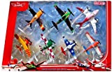 Disney Planes 7-teiliges Flieger Set'Wings around the Golbe' - Sun -Wing - Jan Kowalski - LJH 86 Special - Dusty Crophopper - Joey Dundee - Ripslinger - Rochelle - BJT25