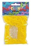 Rainbow Loom 20587 - Original Gummibänder, 600 Bänder + 24 C - Clips, gelb