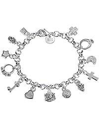 06b567bd4d3e Demarkt Pulsera de plata Accesorios de Joyería con Trece piezas colgantes para  mujer(plata)