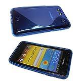 caseroxx TPU-Custodia per Samsung Galaxy S Advance i9070, Guaina (TPU-Custodia in azzurro)