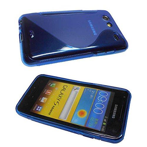 Handykondom Silikonhülle blau Samsung Galaxy S Advance i9070