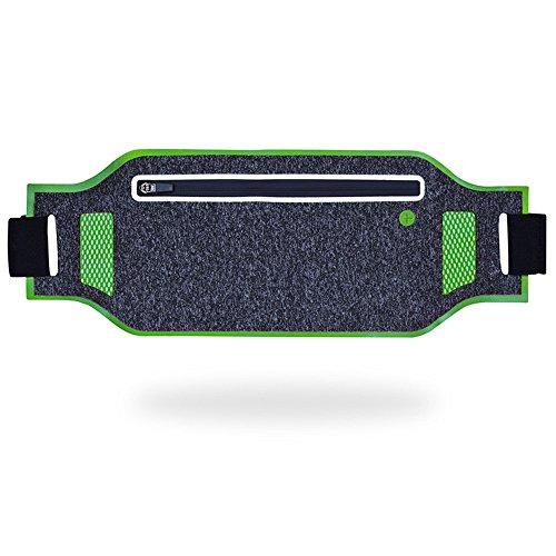 Lauftasche mit elastischem Bund Running Gürtel Antitranspirant Tasche mit Kopfhörer Loch, geeignet für mein Handy X, 6, 7, 8 Plus Samsung S7 zum Wandern Atmungsaktive Radtasche ( Farbe : Grün )
