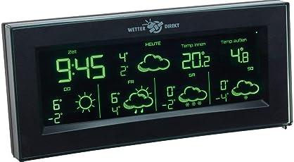 TFA 35.5061.01.IT Aura satellitengestützte Funk-Wetterstation mit Farbwechsel-Display
