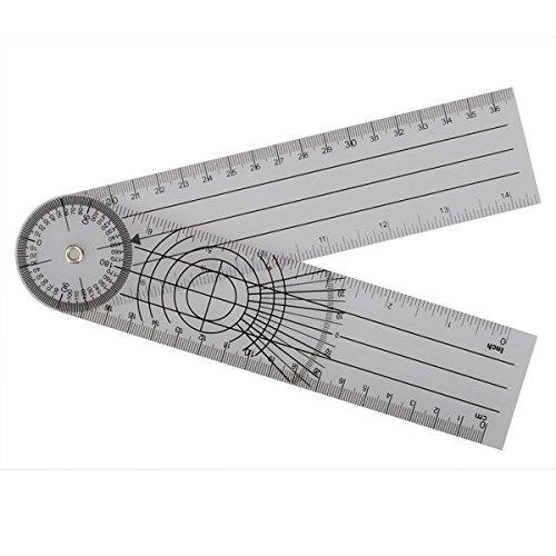 PhilMat Userful Multi Ruler 360 Grad Goniometer Winkel Medical Spinal Lineal cm / Zoll BIG SALE