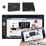 """7"""" Highspeed-Navigations-Autoradio von ICARTECH - Das Multimedia Paket mit DVB-T & DAB+ Digital Radio mobiles Digitalfernsehen - Externes Mikrofon GRATIS - GPS Navigation + TMC Ready mit Europakartenmaterial - ultraschneller 1.2 GHz Cortex A9 Prozessor - Lenkradsteuerungsübernahme optional -,  Premium Bluetooth: Telefonbuch,  Freisprecheinrichtung,  A2DP Musikstreaming - DVD/CD/USB/SD - DVR Kamera Ready (Blackbox -Videoaufzeichnung)- Aurora 2 der offizielle Nachfolger des GX630N"""