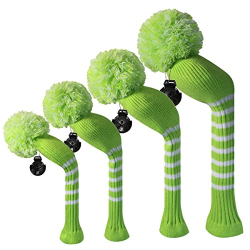 Scott Edward Lime Green Farbe classic Streifen Style Golf Club Head Covers, Acry -