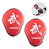 Overmont 1 Paar PU Handpratzen Trainerpratzen für Kickboxen Thaiboxen Karate Boxen