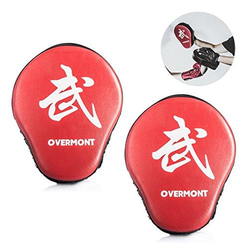 Overmont Paos de Cuero PU Muay Thai Kick Manoplas Boxeo Almohadilla de