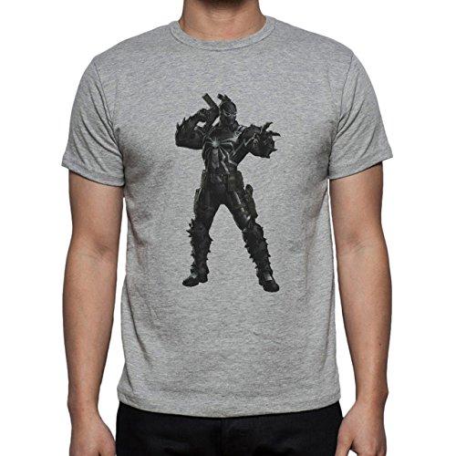Spiderman Peter Parker Super Heroe Venom Standing Gun Herren T-Shirt Grau