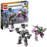 LEGO 75973 Overwatch D.Va & Reinhardt Minifigures with Mech Suits, Buildable Toys