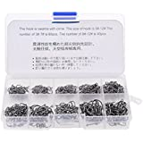 Generic 500Pcs Assorted Sharpened Fishing Tackle Bait Hooks Lures Baits With Tackle Box-54005595MG