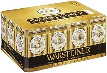Warsteiner Premium Pilsener Dosenkoffer / 12 x 0,33 Liter Dosenbier / Internationales Bier nach deutschem Reinheitsgebot / Dosenkoffer auch im Spar-Abo erhältlich