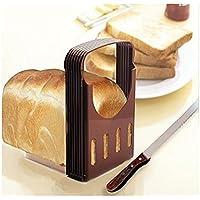 Yeah67886. Rebanadora portátil plegable para tostadas, rebanador compacto para pan, herramientas para hornear