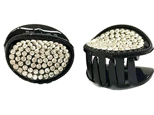 elndes Crystal Haarkralle Medium Haar Clip: H24 (Strass Halloween-pins)
